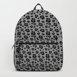 Gray Leopard Print Seamless Pattern Backpack