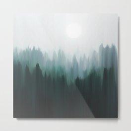 Autumn Fog   Green Edition Metal Print