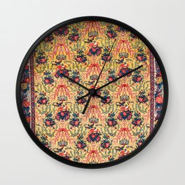 Sehna Northwest Persian Kurdish Rug Print Wall Clock