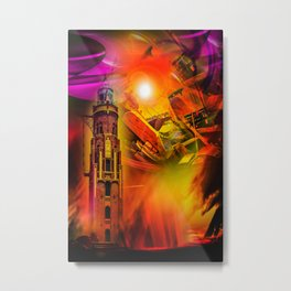 Lighthouse romance Metal Print