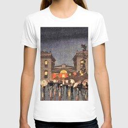 Kobayashi Kiyochika - Top Quality Art - Shinbashi Station T-shirt