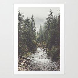 Mountain creek - Landscape and Nature Photography Kunstdrucke
