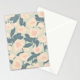 Vintage Garden Peony  Stationery Cards