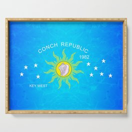 The Conch Republic Flag Serving Tray