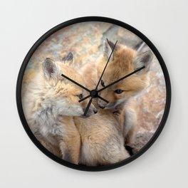 Watercolor Fox, Red Fox 51, Union Reservoir, Boulder Wall Clock