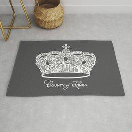 County of Kings   Brooklyn NYC Crown (WHITE) Rug
