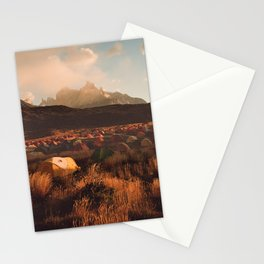 Patagonia Chile Morning Camp Stationery Cards