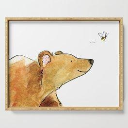 Bear & Bee Watercolor Serving Tray