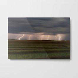 Lightning Strikes - Saskatchewan Skies 3 Metal Print