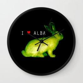 I LOVE ALBA Wall Clock