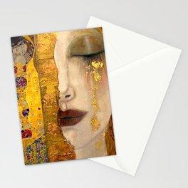 Gustav Klimt portrait The Kiss & The Golden Tears (Freya's Tears) No. 2 Stationery Cards