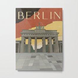 Berlin Vintage Travel Poster Metal Print
