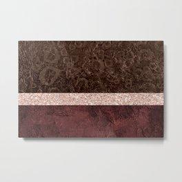 Abstract Organic with Cheetah Pattern Metal Print