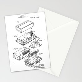 First Aid Packet Vintage Patent Hand Drawing Stationery Cards