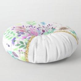 MINIMAL GOLD MARBLE BOUQUET Floor Pillow