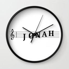 Name Jonah Wall Clock