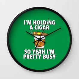 Bourbon Whiskey Cigar Vintage Retro Wall Clock