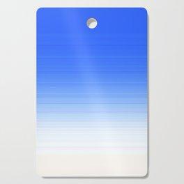 Sky Blue White Ombre Cutting Board