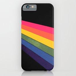 HOMEMADE RAINBOW ON BLACK iPhone Case