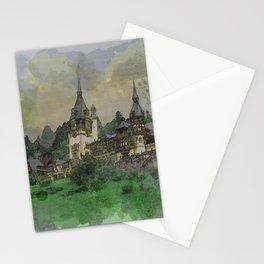 Peles Castle Romania Watercolor Stationery Cards