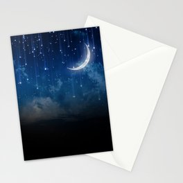 Summer night sky Stationery Cards