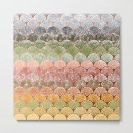 Watercolor art decó pattern Metal Print