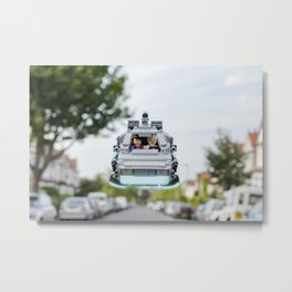 Back to the Lego Metal Print