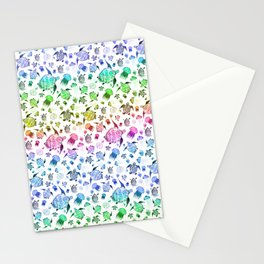 Ocean Life - Rainbow Colors Stationery Cards