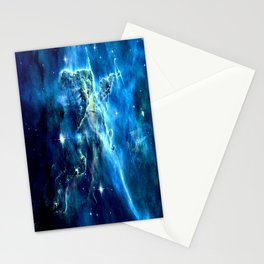 GALAxY Mystic Mountain Blue Stationery Cards