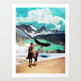 The eagle's journey Art Print