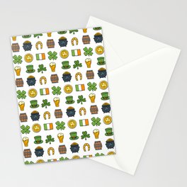 St Patricks day pattern Stationery Cards