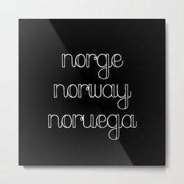 Norge Metal Print