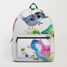 Happy Hippy Birds Backpack