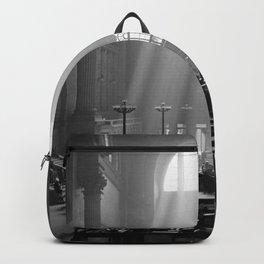 Penn Station, Rays of Light black and white photograph - black and white photography Backpack