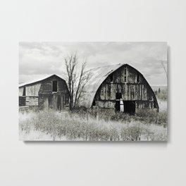 Two Old Barns Metal Print