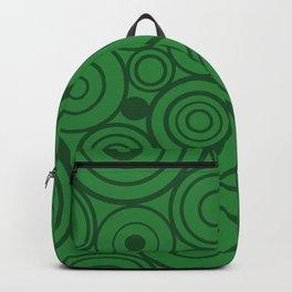 1950s MCM Pattern Circles Green Backpack
