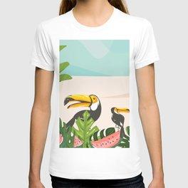 Tropical Bird Beach T-shirt