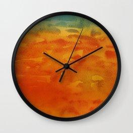 Handmade watercolor art Wall Clock
