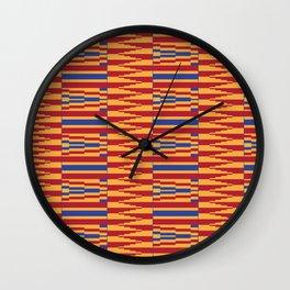 Bright Kente Cloth 8 Wall Clock