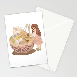 Make delicious oden hot pot Stationery Cards