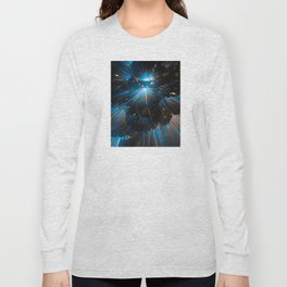 Bad Intentions: Abstract Space Explosions Long Sleeve T-shirt