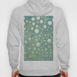 Abstract green teal modern polka dots texture pattern Hoody