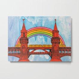 Rainbow Oberbaum Bridge Metal Print