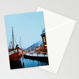 Winter in Tromso Harbor  Stationery Cards