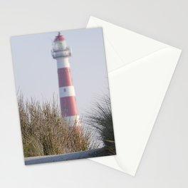 Red and white island lighthouse | Hollum, Ameland, The Netherlands | Fine art landscape photography Stationery Cards