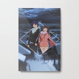 Noragami Minimmalist (Yato) Metal Print