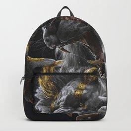 Golden White Lion Backpack