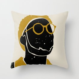 Black Hair No. 8 Throw Pillow