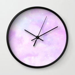 Pastel Cloulds Sky Seamless Nebula 195 Wall Clock