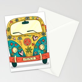 Hippie Bus Peace Stationery Cards